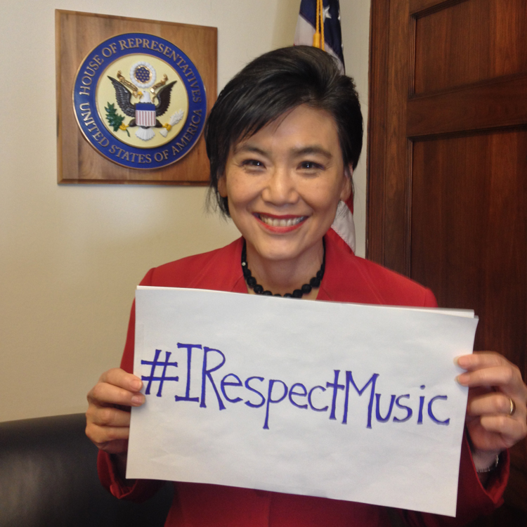 I Respect Music - Representative Judy Chu, Creative Rights Caucus - #IRespectMusic - http://www.irespectmusic.org