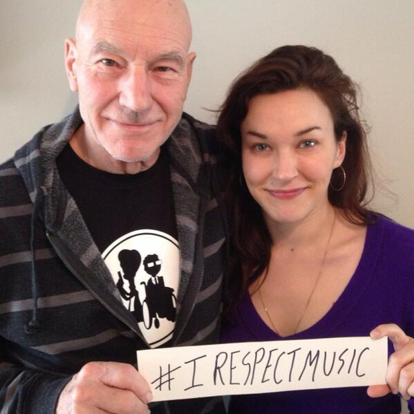 I Respect Music Sir Patrick Stewart Sunny Ozzell #irespectmusic irespectmusic.org